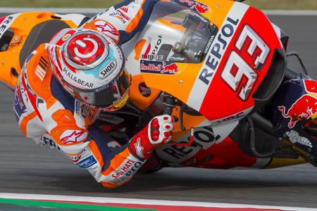 Driver Marc Marquez. Monster Energy Grand Prix of Catalonia MotoGP at Circuit of Catalonia. Barcelona, Spain, June 15, 2018