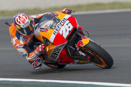 Driver Dani Pedrosa. Monster Energy Grand Prix of Catalonia MotoGP at Circuit of Catalonia. Barcelona, Spain, June 15, 2018