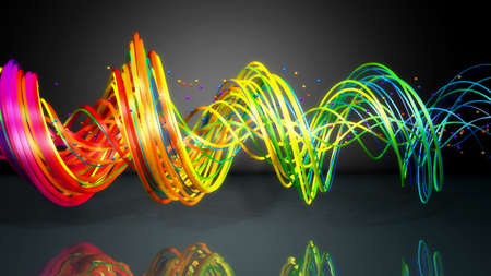 3d render. Abstract colorful background