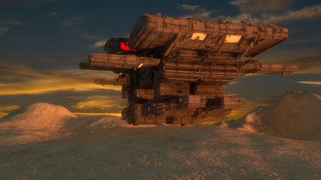 3d render. Alien spaceship concept Reklamní fotografie