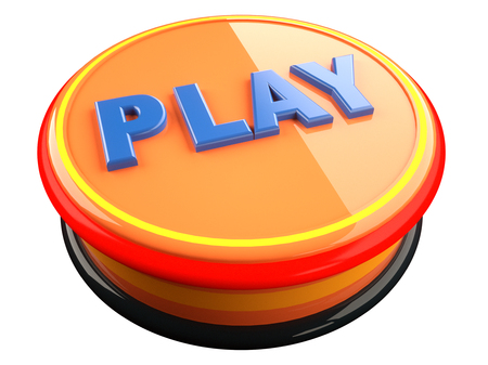 3d render. Play video icon 3d concept Stock Photo
