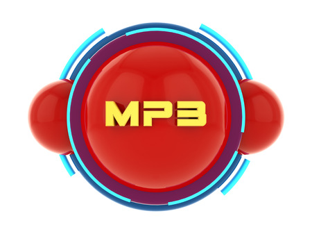 3d render. MP3 button icon Stock Photo