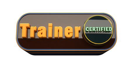 3d render. Trainer button icon