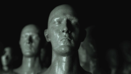 3D render. Cloning humanoid figures