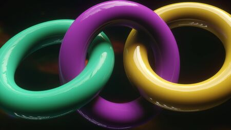 3d render colorful abstract background