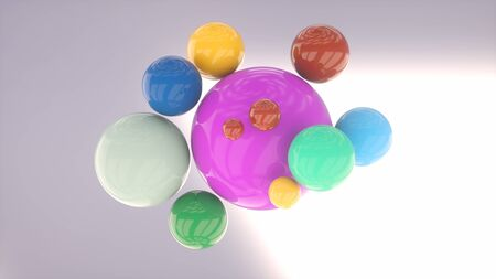 3D colorful spheres background