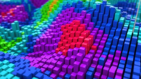 Abstract colorful background illustration design Stock Photo