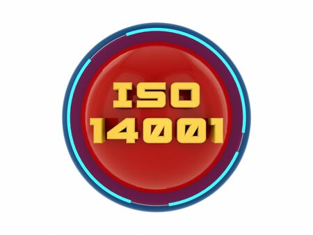 ISO 14001 3d text render