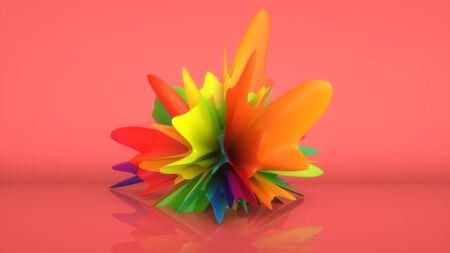 3d render. Abstract sculpture background