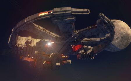 3d render. Unidentified flying object