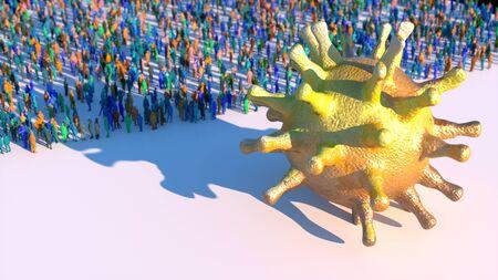 3d render. Coronavirus 3d concept illustration