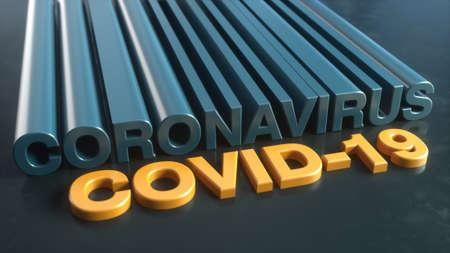 3d render. Coronavirus and covid concept illustration