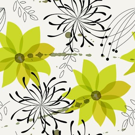 Seamless flower background. Vector illustration