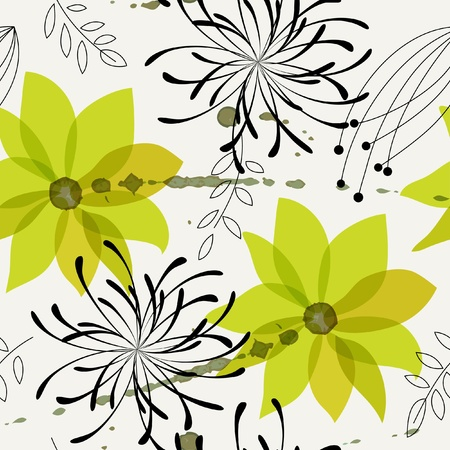Seamless flower background. Vector illustration Stock Vector - 10428431
