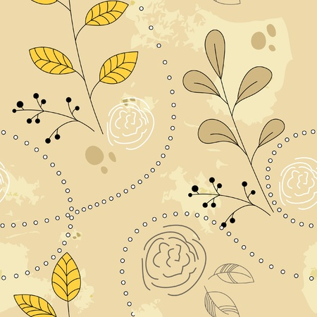 floral backgrounds: Seamless vegetative background. Vector illustration