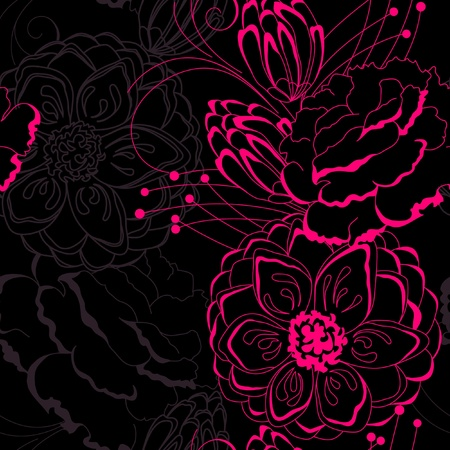 Seamless flower background. Vector illustration
