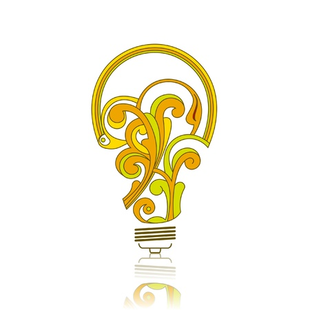 fixture: Electric bulb from abstract elements