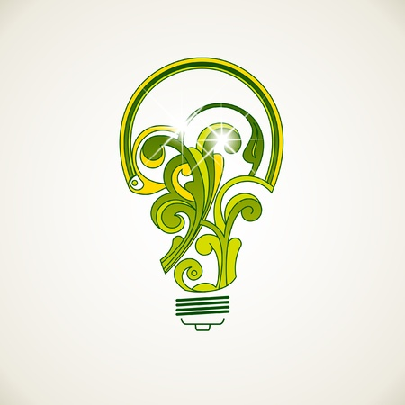 luminescence: Electric bulb from abstract elements
