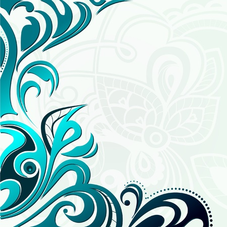 Abstract floral  lacy background Ilustração