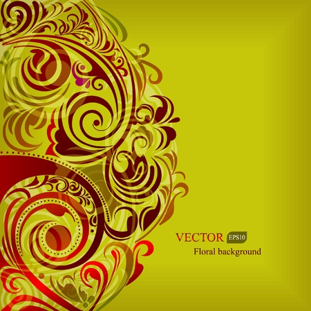 Abstract background of floral elements