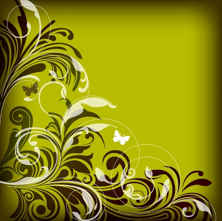 twirls: Abstract background of floral elements