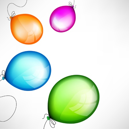colored balloons: Abstract background with color balloons