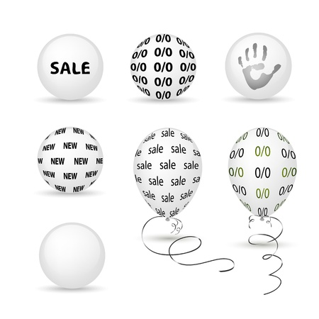 Set of white subjects Vector