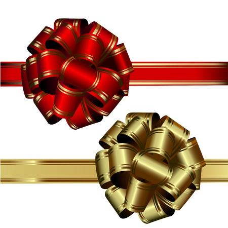 conjunto de dos arcos: el rojo y oro, sobre un fondo blanco