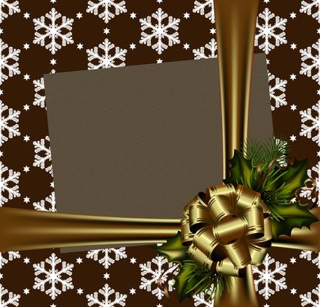 cioccolato natale: Bella oro vettore Cartolina di Natale