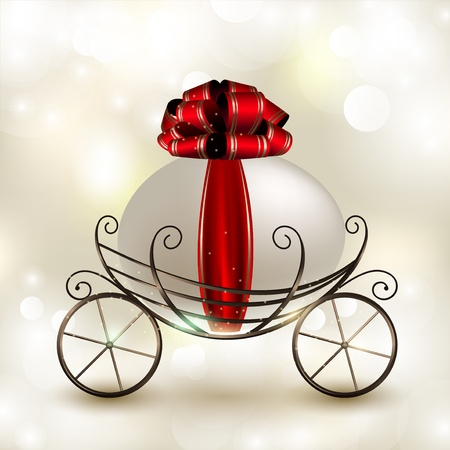 Joyeuses Pâques. Oeuf décoré dans le panier-transport Banque d'images - 12495988