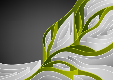 Abstract spring background with green branch of tree