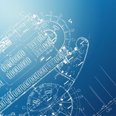 dibujo tecnico: Azul resumen de antecedentes de dibujo arquitectónico tema de trabajo