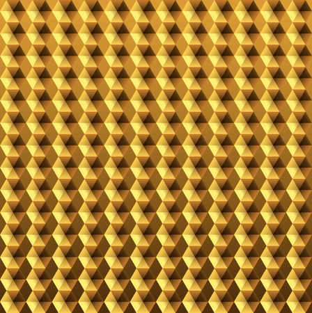 hexahedron: Gold relief metal