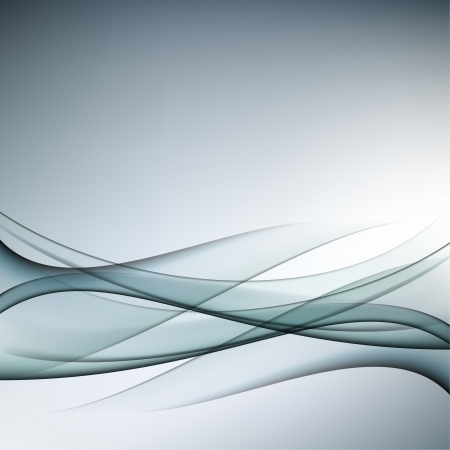 Gray abstract background with transparent waves Vector