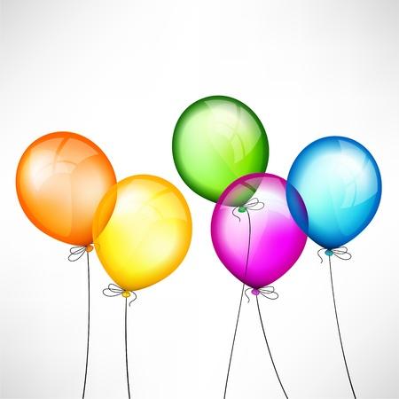 Résumé de fond avec des ballons de couleur Banque d'images - 14387803