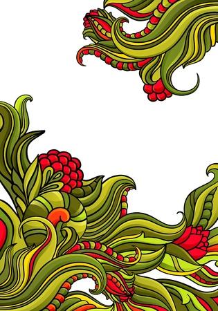Brillante fondo floral abstracto