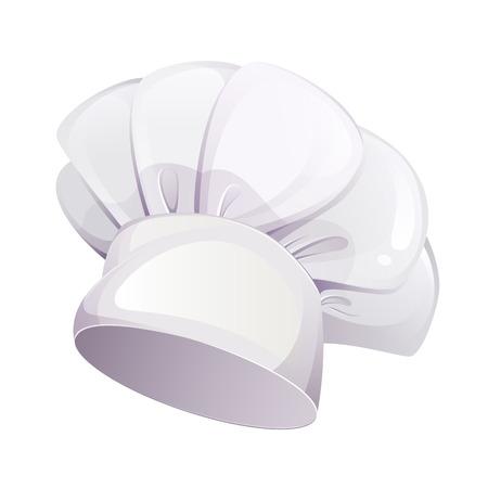 gorro cocinero: Cap cocina aisladas sobre fondo blanco