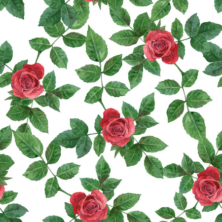 Seamless background with roses  Watercolor painting photo