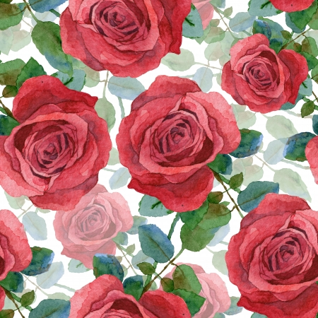 Seamless background avec la peinture rose d'aquarelle Banque d'images - 25255734