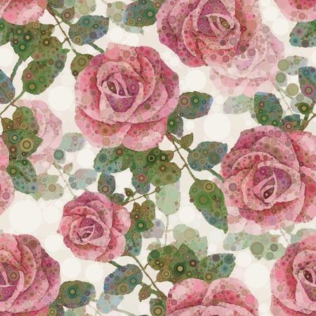 Resumen patr�n de flores de fondo sin fisuras rosadas rosas