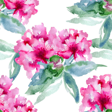 Floral pattern. Vector seamless background. Pink peonies Vector