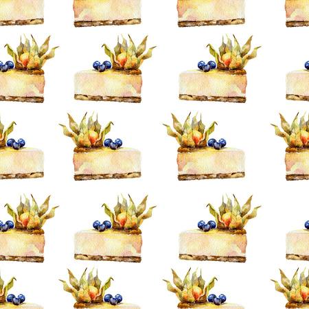 blueberry cheesecake: Seamless pattern
