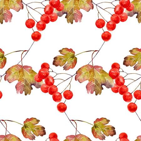 guelder: Autumn seamless pattern
