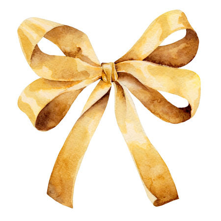 bow isolated: Golden bow