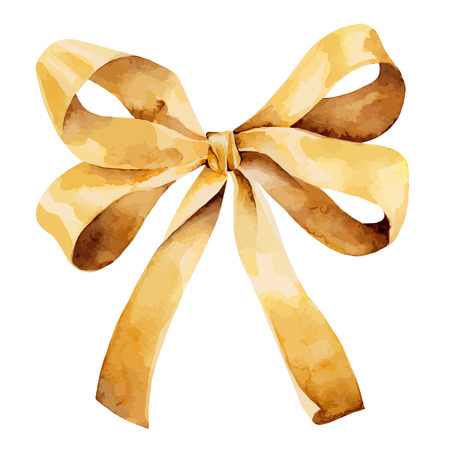 Golden Bow Illustration