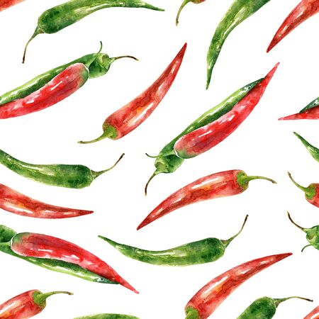 Pattern with hot pepper Banque d'images