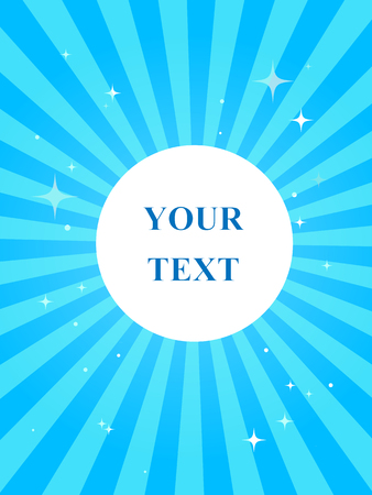 ison: Blue doodle with geometric simbols and bright stars; geometric layout with your text