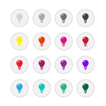 Light bulbs. Bulb icon set