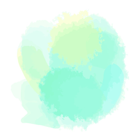 aquarelle: Abstract watercolor aquarelle shapes on isolated background