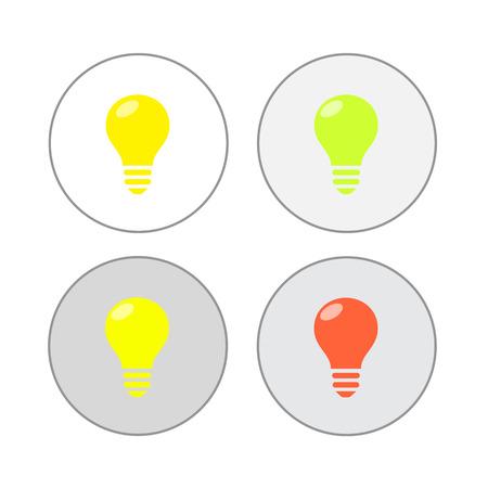 scriibble: Light bulbs. Bulb icon set
